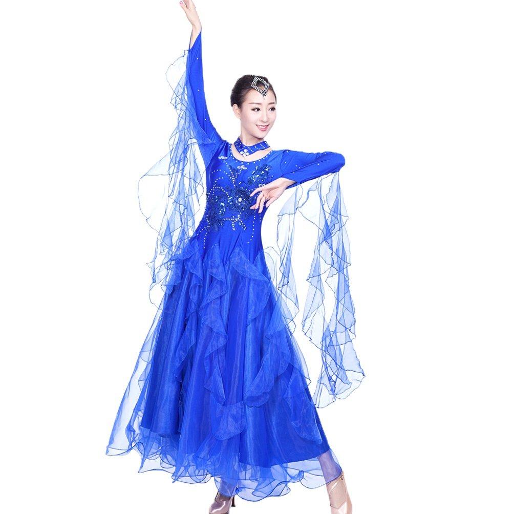 MoLiYanZi Wettbewerb Tanz Outfit Für Frauen Frauen Frauen Walzer Tanzbekleidung Lange Ärmel Modern Ballsaal Tanzkleider B07CBN3BVW Bekleidung Abholung in der Boutique d03521