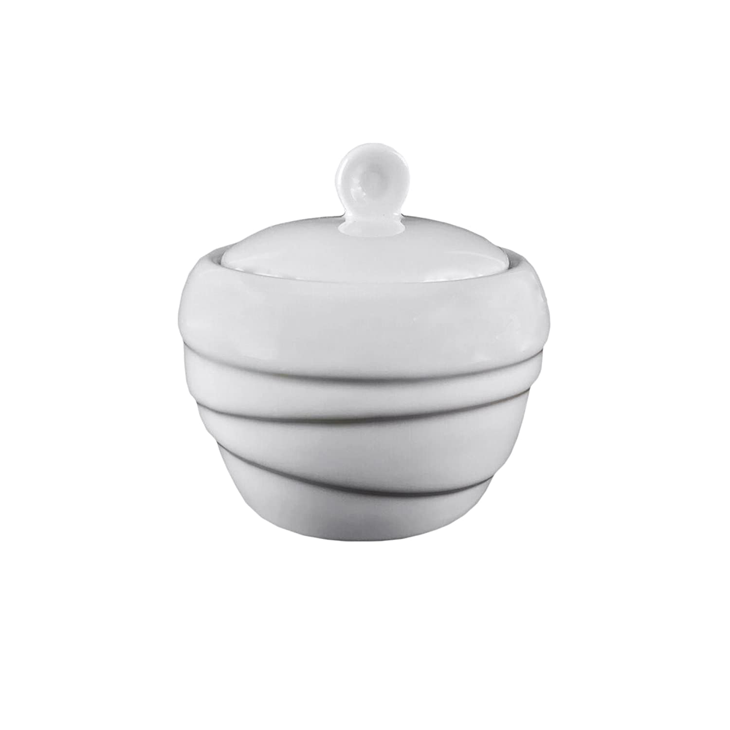 Vie Belles LH847-200 Spinning Collection 200 ml Porcelain Sugar Pot, White