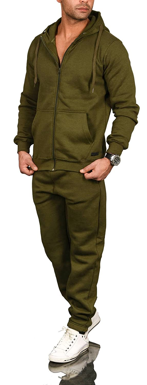 A. Salvarini Herren Jogging Anzug Trainingsanzug Sportanzug Sweatshirt AS071 AS-071