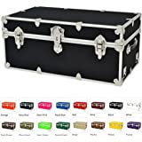 "Rhino Armor College & Camp Trunk w/Wheels & Tray - Large - 32""L X 18""W X 14""H - BLACK"