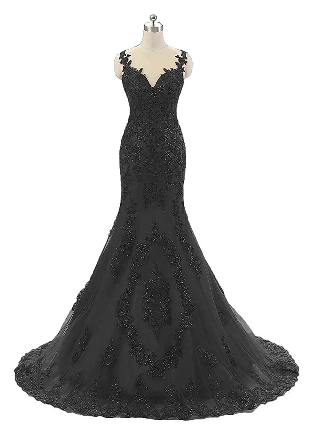 Black Sexy Sequin Mermaid Prom Dresses Long Lace Backless Spaghetti Strap Womens Pageant Evening Party Gown