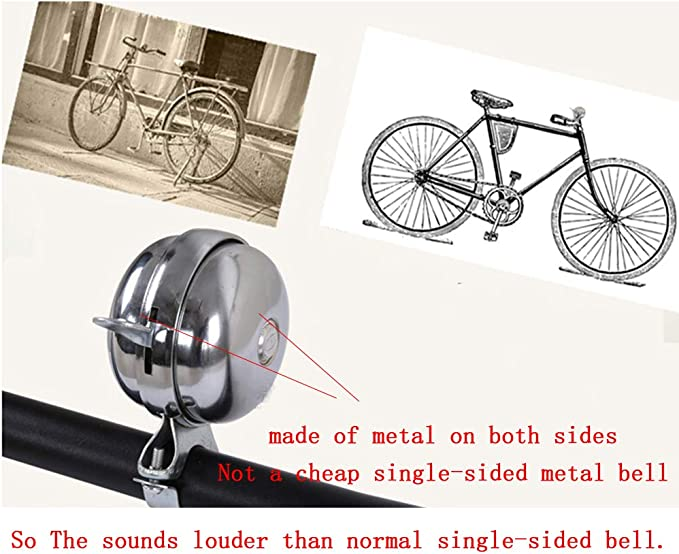 Bicycle Bell Steel Chrome Bicycle Bell Bell Ø 57 MM