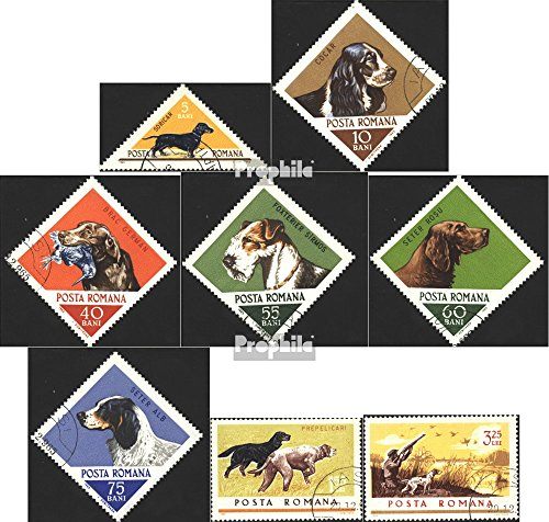 Dog Stamp Collection - Romania 2470-2477 (Complete.Issue.) 1965 Hounds (Stamps for Collectors) Dogs