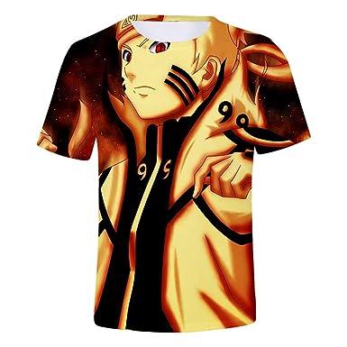 JXKEF Impresora De Camisetas 3D Anime Naruto Hombre Camiseta De ...