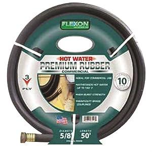 """Flexon PH5825C Commercial Premium Rubber Hose 5/8"""" X 25', 1"""" x 1"""" x 1"""""""