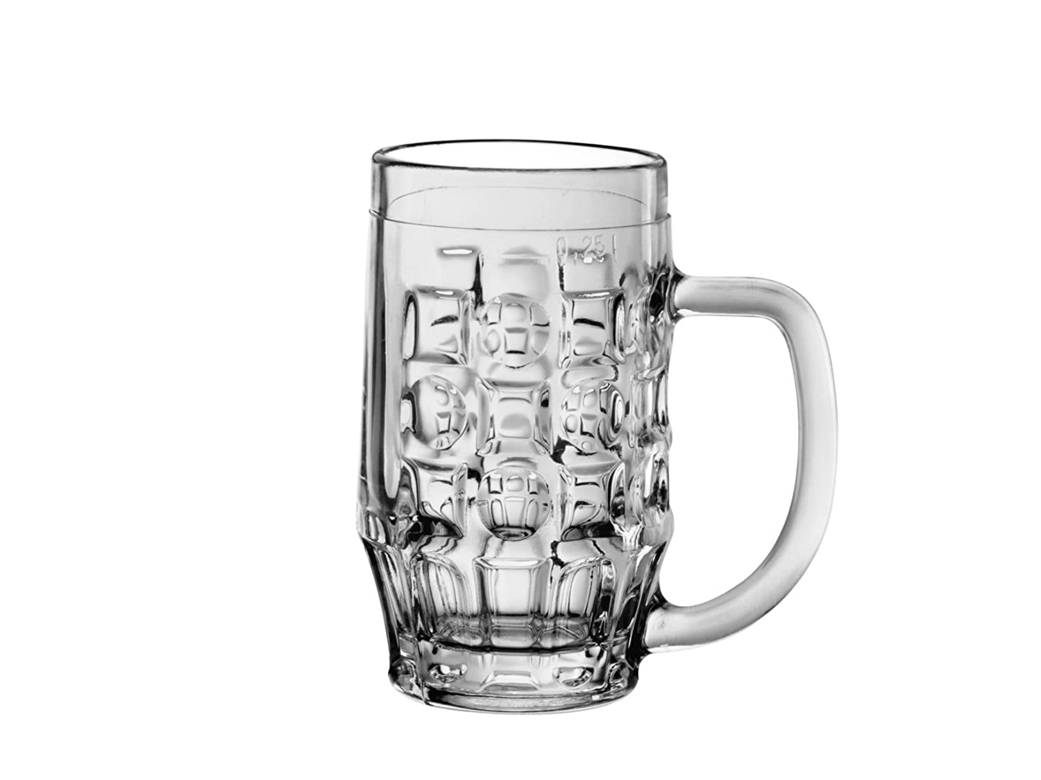 Bormioli Rocco Malles beer mug 325ml, with filling mark at 250ml, pack of 6 1