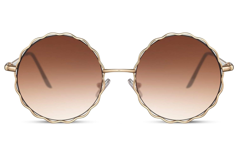 Cheapass Occhiali da sole Rotondi Metallici Occhiali da Festival da Donna