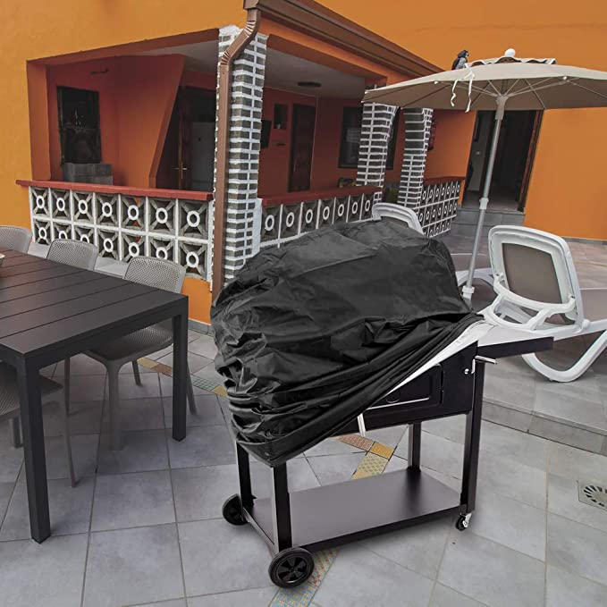 PrimeMatik Cubierta Protectora Impermeable para BBQ Funda para Barbacoa de 170 x 61 x 117 cm Rectangular