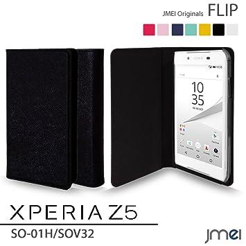 5c271753b7 Xperia Z5 SO-01H SOV32 ケース JMEIオリジナルフリップケース ブラック docomo au ドコモ エーユー