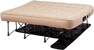 Simpli Comfy EZ Air Bed Self-Inflating Queen Size Air Mattress with Built-in Frame, Pump and Wheeled Case