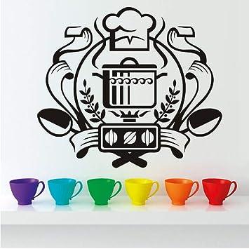 """Czxmp""""Insignia Del Chef Etiqueta De La Pared Decoración Para El Hogar Mural Calcomanía De"""