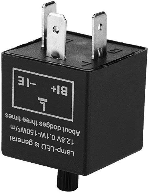 12V 3-Pin LED Adjustable Electronic Flasher Relay for Turn Signal Light Lamp