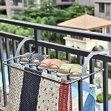 $19.98Yeeper Drying Rack Indoor/Outdoor Easy Install Folding Clothes Drying Rack-Hanging over the door or on Guardrail Corridor Balcony Bathroom Windowsill