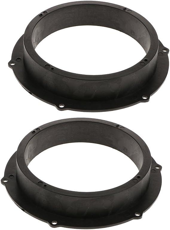"""2x 6.5/"""" Universal Plastic Speaker Spacer Adaptor Ring Mount Bracket for Car"""