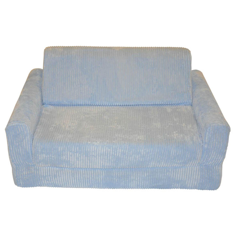 Fun Furnishings 10310 Kid's Sleeper Sofa in Chenille Fabric, Blue