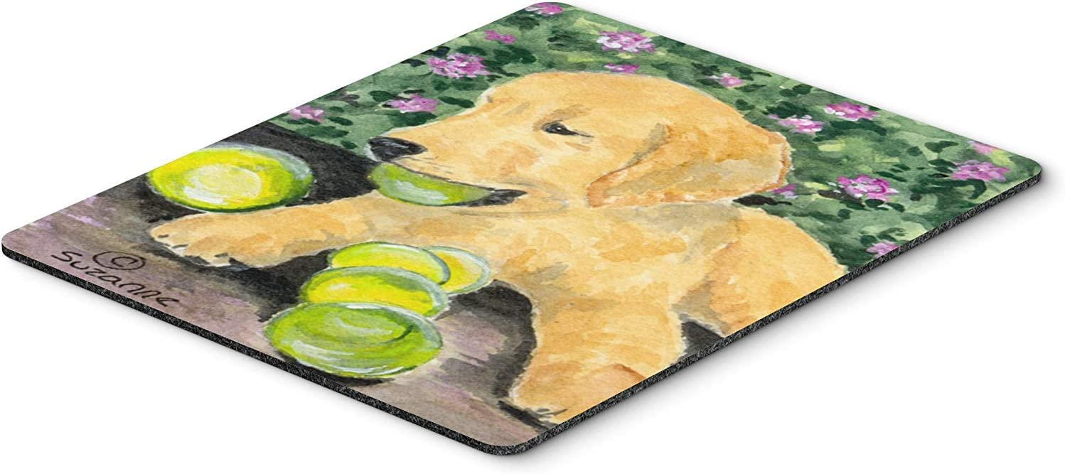 Caroline's Treasures SS8759MP Golden Retriever Mouse Pad/Hot Pad/Trivet, Large, Multicolor [並行輸入品]