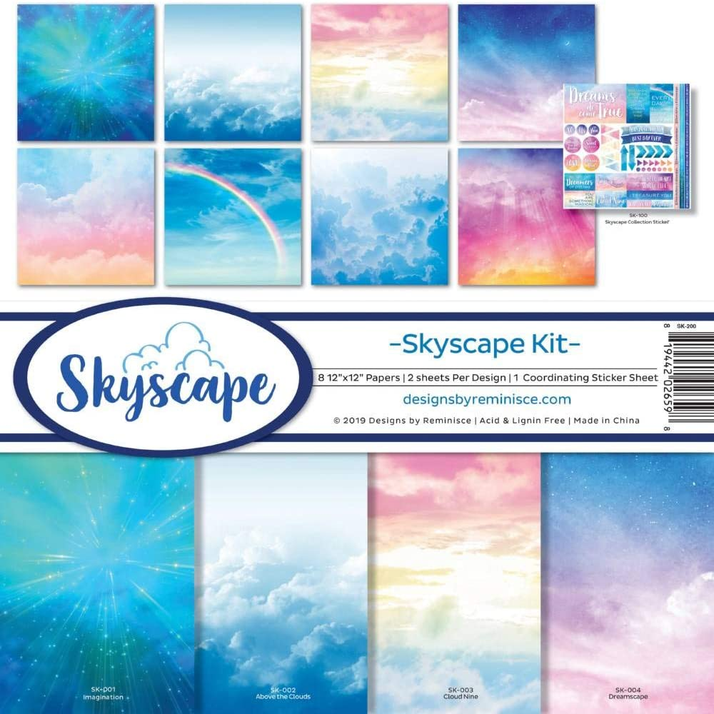 Multi Color Palette Reminisce OUT-300 Galaxy 12x12 Scrapbook Paper Pad