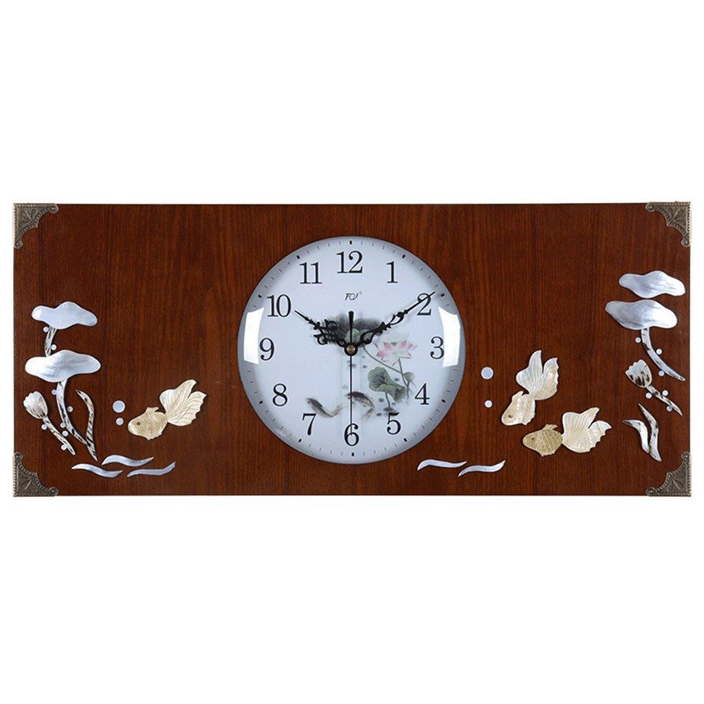 中国の木の殻は、リビングルームの壁時計をミュート (色 : Pisces) B07DL491SH Pisces Pisces