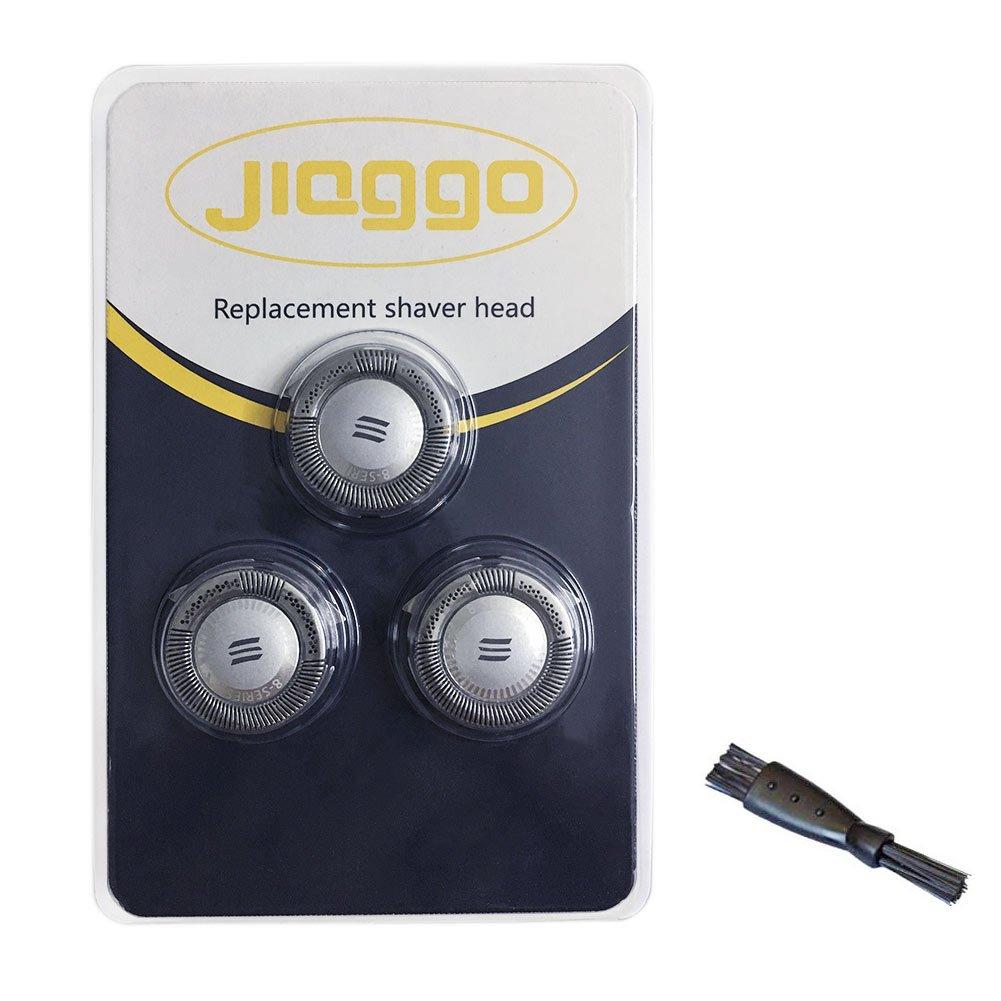 Jiaggo Cabezales de Afeitado HQ8 Reemplazo (Paquete de 3) para Philips PT860 AT750 PT870 AT790 PT710 PT715 Afeitadora con Cepillo de limpieza