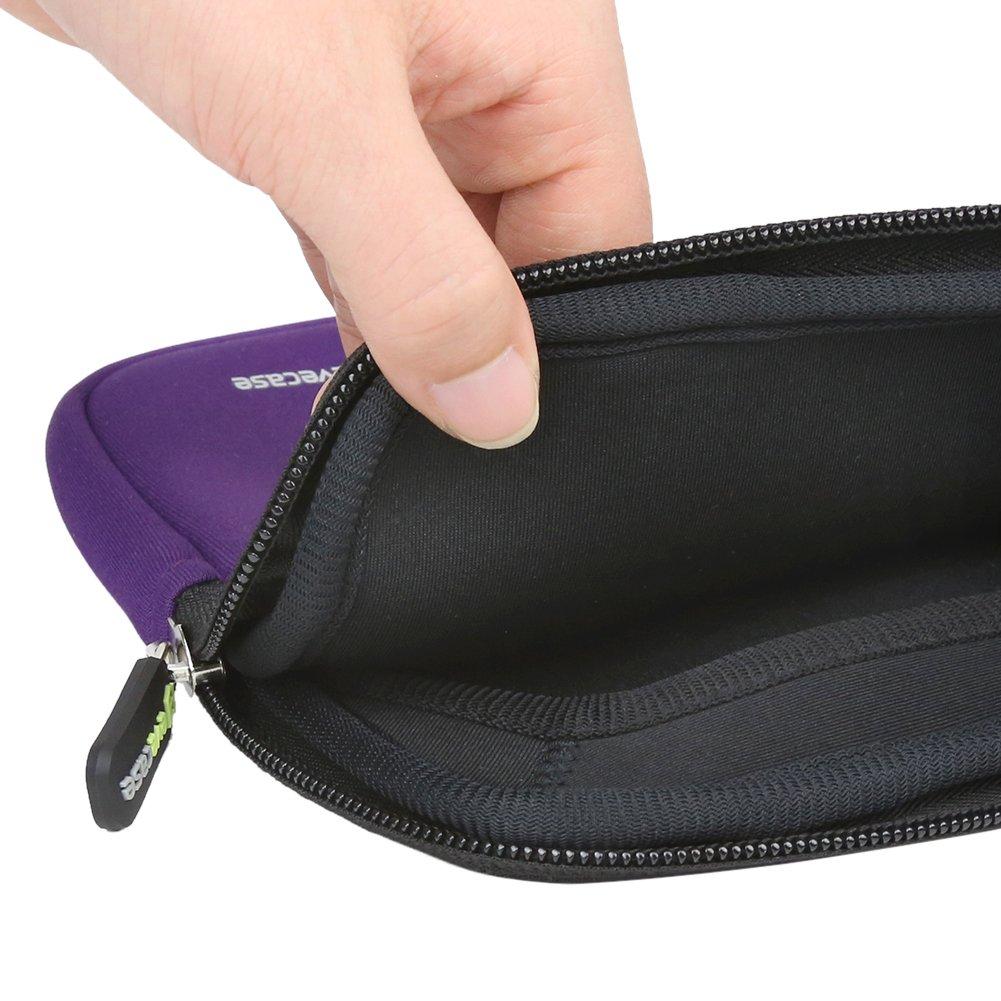 Evecase Neoprene Zipper Case with Handle Funda para Tablet de 7-8 Pulgadas Rosa Malet/ín Neopreno con Manija y Bolsillo