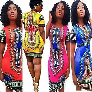 fa9a0422492 LAKAYA Women Traditional White African Tribal Patterns Dashiki Bodycon  Stretch Dress.  13.65 –  18.12. Select options · Add to Wishlist loading
