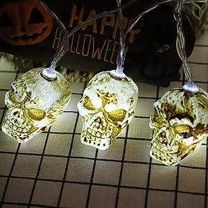 String Light 20 LEDs 10ft Skull Lights Halloween Decoration