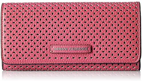 A X Armani Exchange Perforated Pebble Pu Continental Wallet Wallet