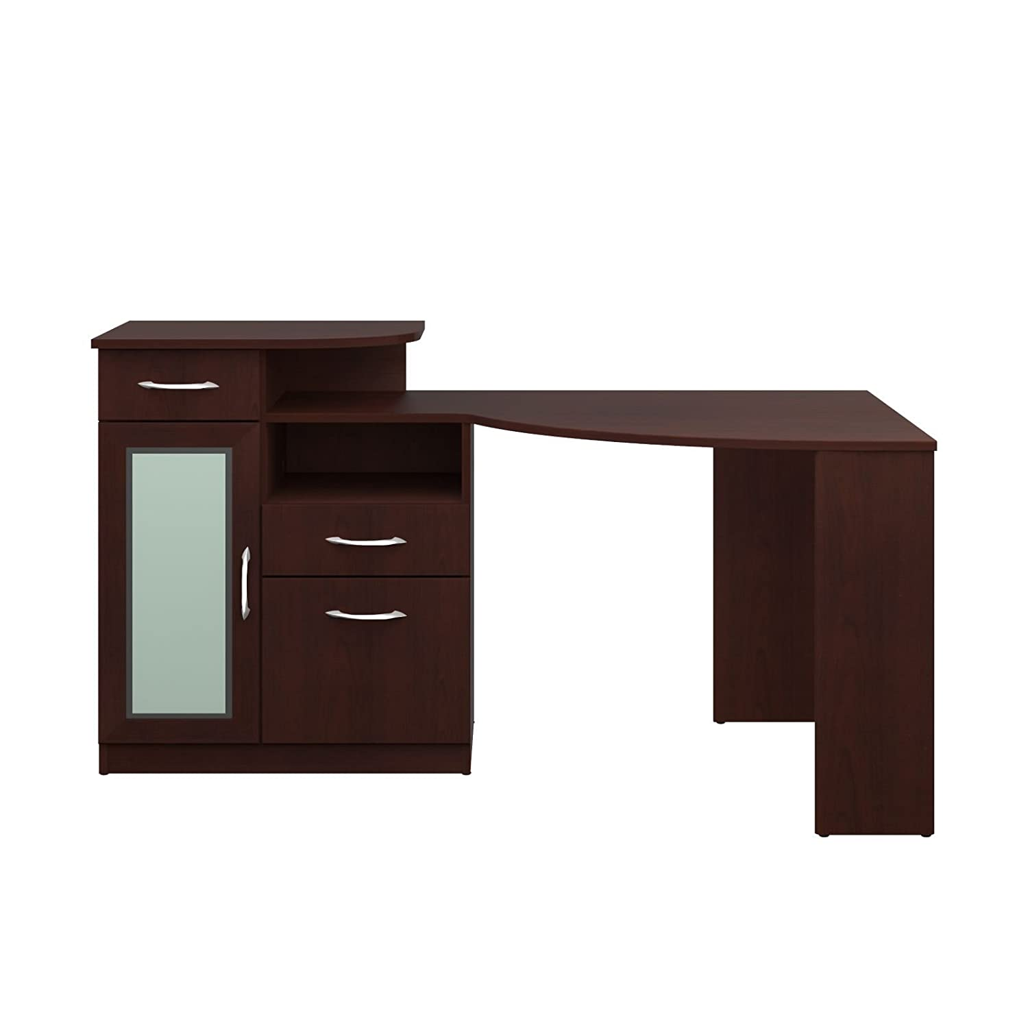Amazon.com: Bush Furniture Vantage Corner Desk, Harvest Cherry: Kitchen U0026  Dining