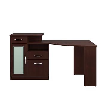 Amazoncom Bush Furniture Vantage Corner Desk Harvest Cherry