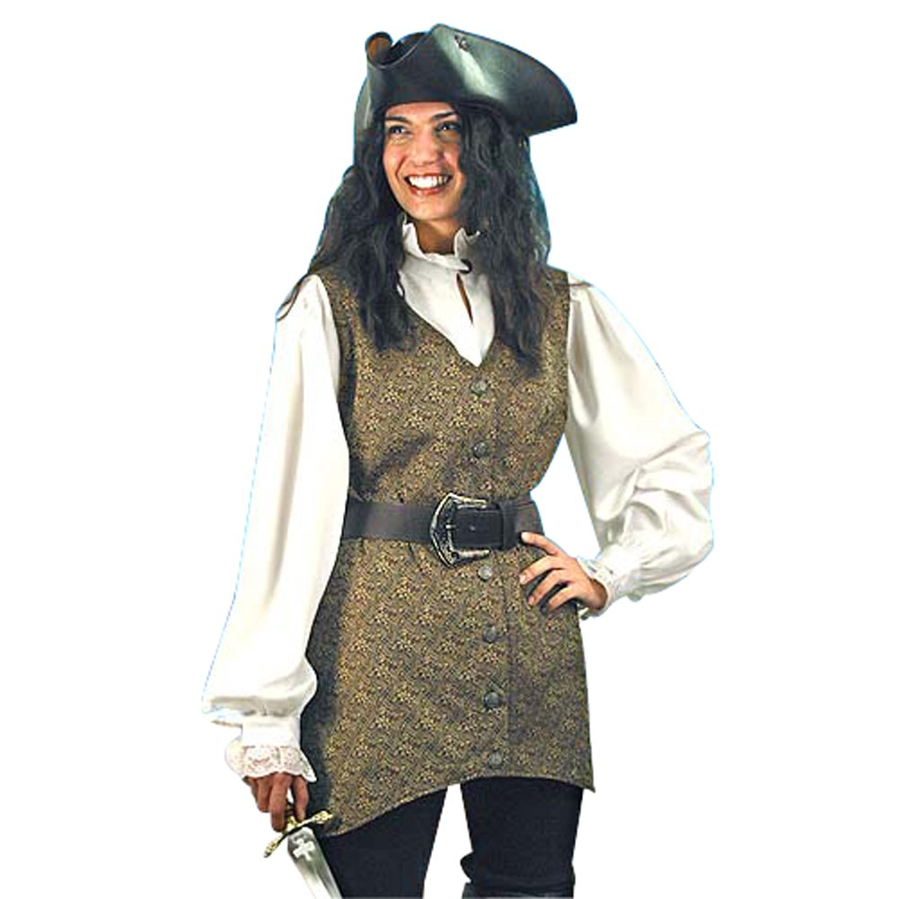 Women's Mary Read Pirate Vest - S/M (Vest Only)