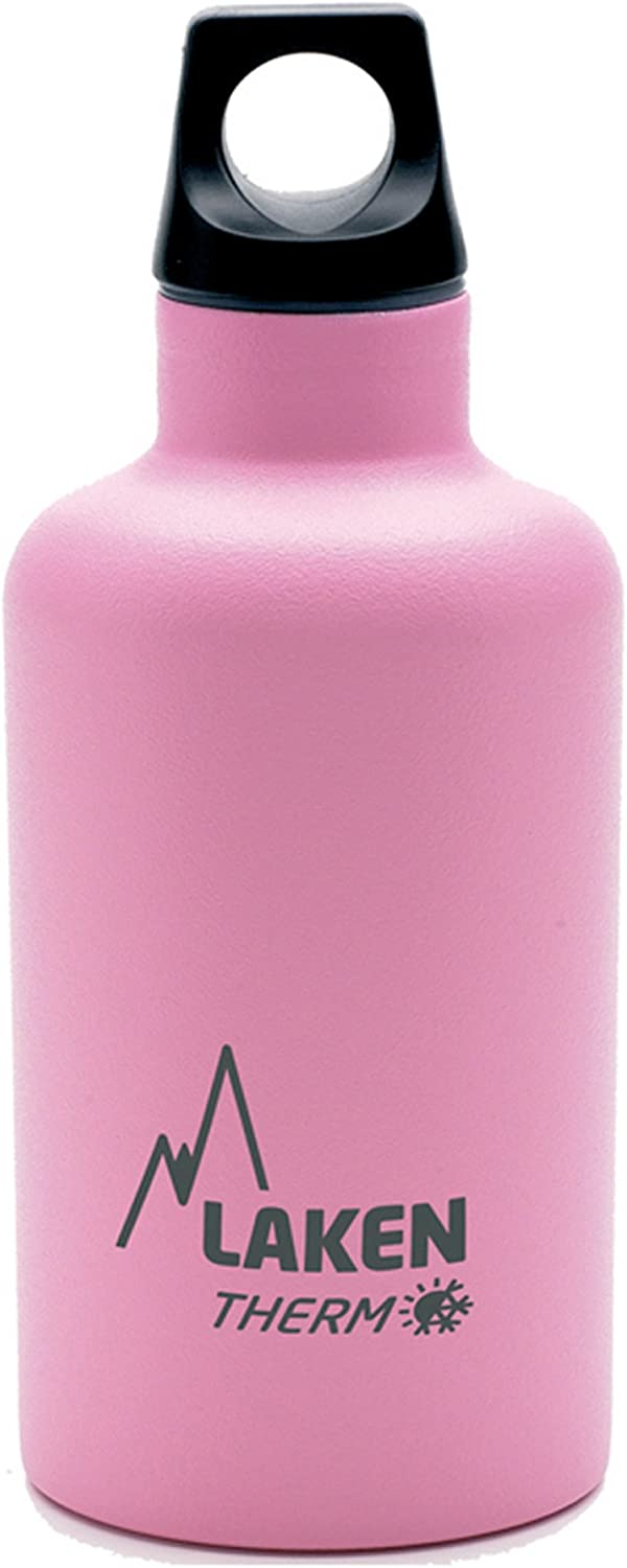 Laken Futura Botella Térmica Acero Inoxidable 18/8 y Doble Pared de Vacío, Unisex adulto, Rosa, 350 ml