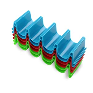 Taco Holder Stand Set of 6 Dishwasher Safe Aichoof