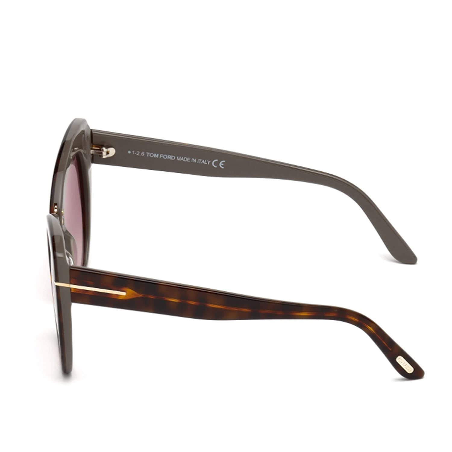 e7aa83cdd89 Sunglasses Tom Ford FT 0553 Samantha- 02 56G havana other   brown mirror at  Amazon Men s Clothing store