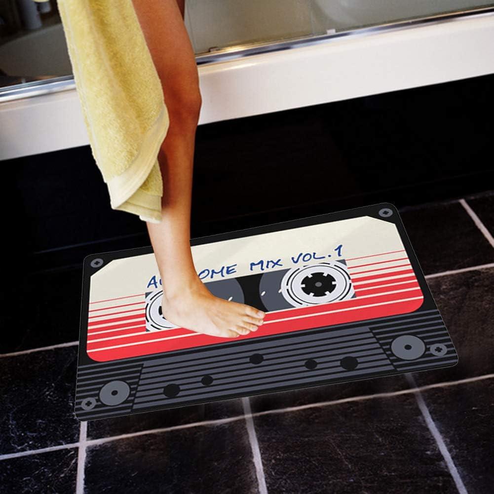 1# Stampa Nastro Vintage Tappeto Morbido Assorbente Antiscivolo per Balcone Vasca da Bagno HERCHR Tappetino da Bagno per Bagno 19,7 x 31,5 Pollici