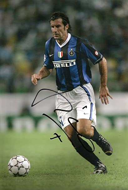 sports shoes 27d78 9c8ec Amazon.com: Luís Figo SOCCER INTER MILAN autograph, In ...