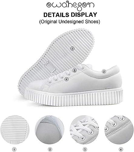 Platform Lace up Sneaker Casual Chunky Walking Shoe Women Panda Bear Rainbow Lollypop Police Cop