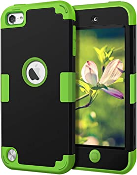 IDweel Heavy Duty High Impact Armor Shockproof Case Cover Protective Case for Apple iPod Touch 5//6//7th Generation,Navy Blue+Black iPod Touch 7th Generation Case with 2 Screen Protector