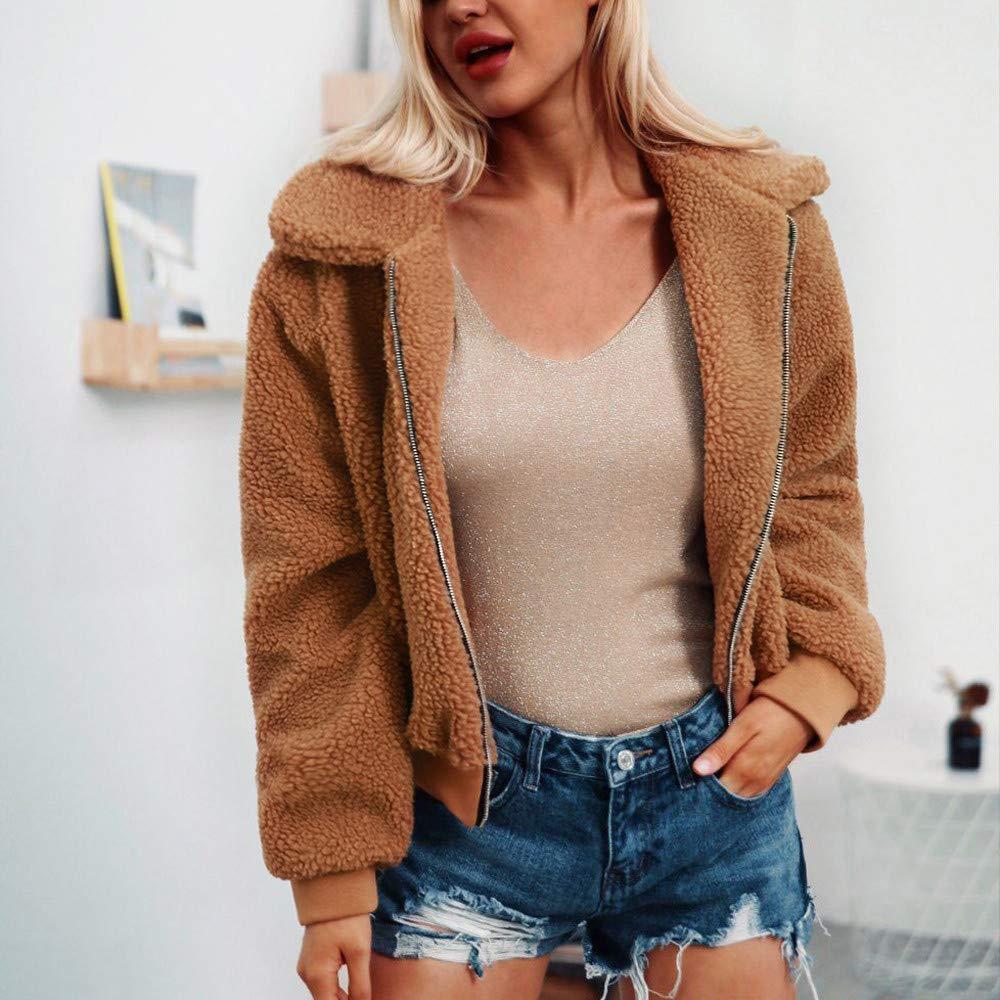 Amazon.com: DICPOLIA Womens Plus Size Winter Jackets Faux ...