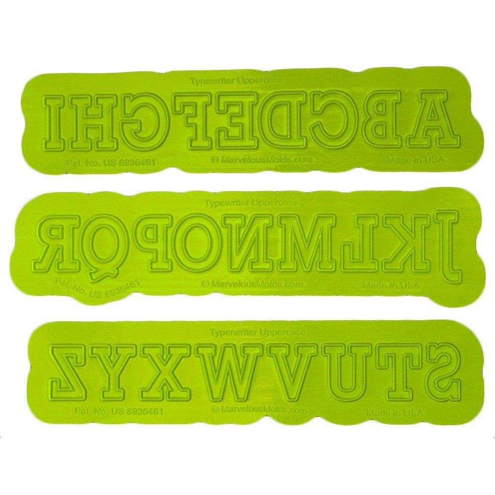 Máquina de escribir mayúsculas flexabet molde por moldes Marvelous: Amazon.es: Hogar