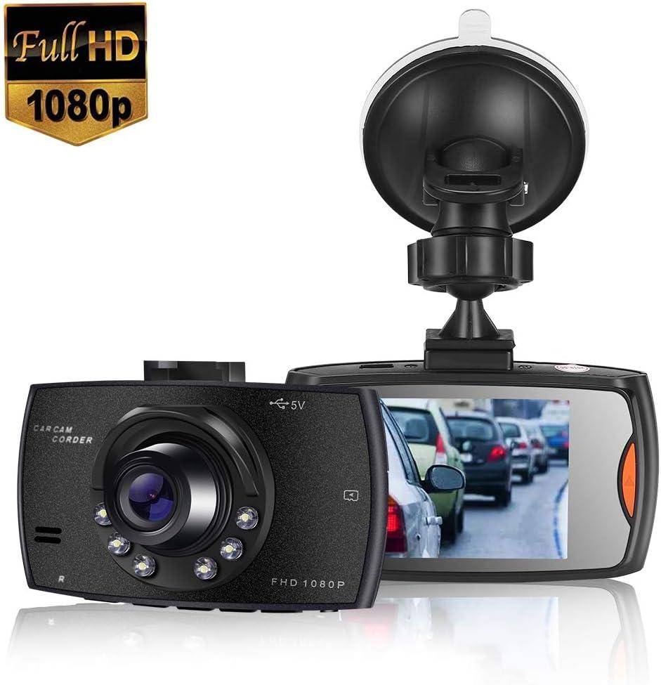 MASOMRUN Cámara de Coche 1080P Full HD Dash CAM 2.4 Pulgada LCD Conducir Grabadora 170°Ángulo con WDR, G-Sensor, Detección de Movimiento, Grabación en Bucle, Monitor de Aparcamiento