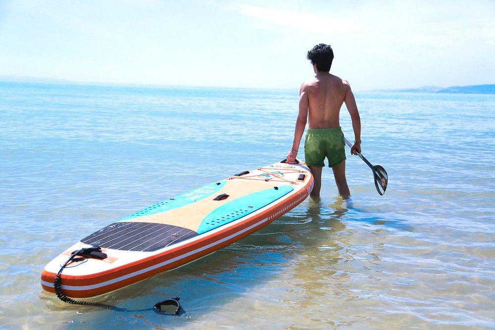 skiffo Sol Cruise 10.10 SUP 330 X 82 x 15cm hinchable isup Hinchable alu-paddel Tabla Surf de Remo Set bomba Tabla de surf paddelset: Amazon.es: Deportes y ...