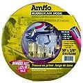 Amflo 552-50AK 300 PSI Red Rubber Air Hose With 9 Piece Blow Gun Kit