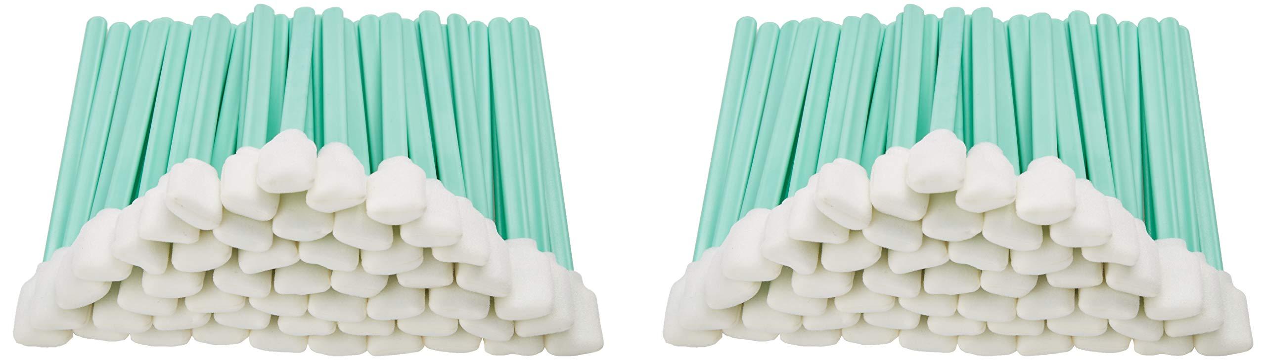 Zetek 5'' Long 100 pcs Foam Tip Cleaning Swabs Sponge Stick for Inkjet Print head Optical Lens Gun Cleaning Solvent Resistance by Zetek Digital