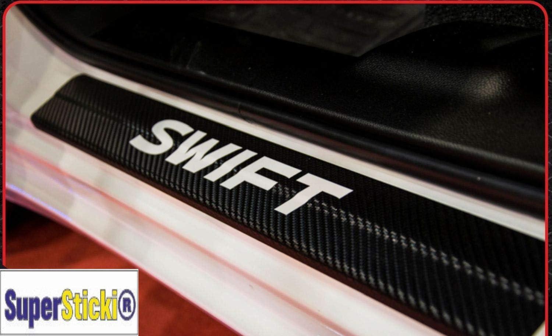 Supersticki Suzuki Swift Carbon Carbonfolie Carbon Aufkleber Folie Optic Einstiegsleisten Set 2 Türen Ausgeschnitten Rennsport Racing Tuning Auto