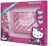 Kit Relógio + Carteira Da Hello Kitty Alimentação Bateria Lr41 Indicado Para +3 Anos Multikids Br593 Rosa