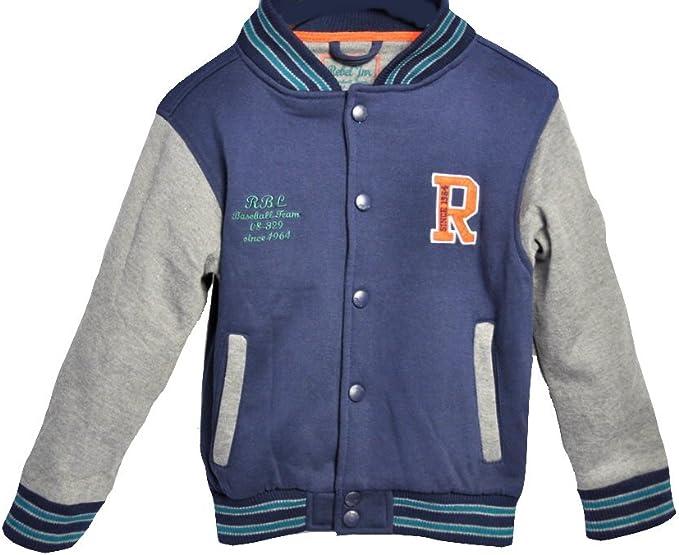 Kinder 2 Tone College Jacke Baseball Jacke Freizeitjacke Sweatjacke Kontrastfarbige Ärmel Für Kids