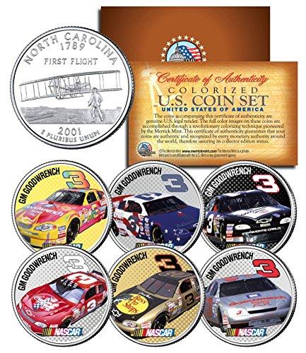 DALE EARNHARDT * GM Goodwrench #3 * NASCAR Race Cars NC Quarters U.S. 6-Coin Set (Set Nascar Coin)