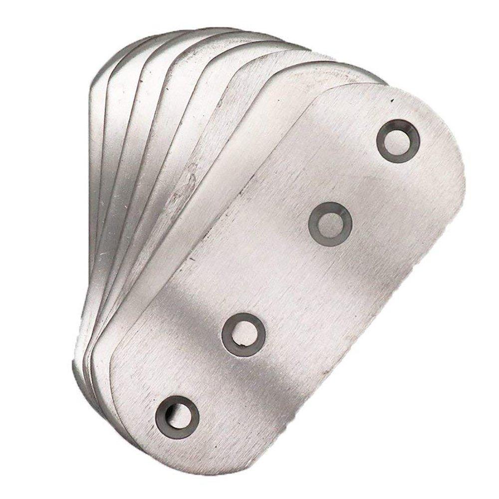 BTMB 8 Pcs Stainless Steel Flat Flat Corner Brace Plates Metal Joining Plates Repair Bracket 92x32mm/3.6''x1.25''