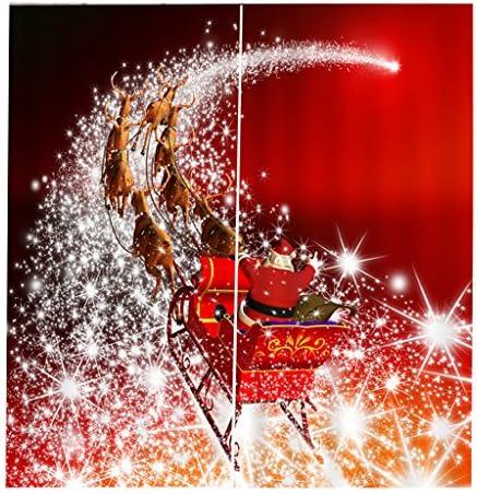 2x Natale Temporizzato Tende Per Porte Finestre Tende Per La Decorazione Natalizia – #07, 150x166cm
