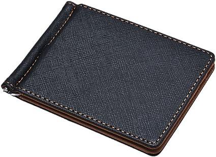 Men/'s Leather Mini Bifold Genuine Wallet ID Credit Card Holder Purse Money Clip